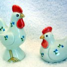 Vintage Otagiri Chicken Salt & Pepper Shakers Rooster and Hen