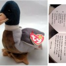 Ty Beanie Baby Jake the Duck Mallard