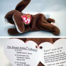 Ty Beanie Baby Ears the Bunny Brown Style # 4018