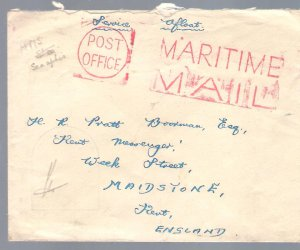 Maritime Mail Stamp cover HMS Sea Aphis FREE POSTAGE