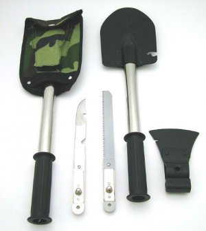 Axe / Shovel / Skinning Knife / Saw