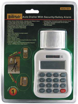 Auto Dialer with Security Alarm