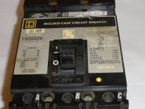 Circuit Breaker Square D 3 POLE  480 VOLT 20 AMP