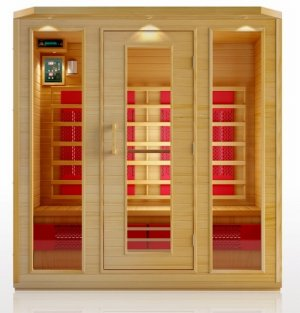 Hemlock 4 Person Ceramic Heater Far Infrared Sauna ETL Approved