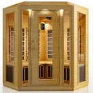 Hemlock 3-4 Person Corner Carbon Heater Far Infrared Sauna