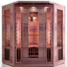 Cedar 3-4 Person Corner Carbon Heater Far Infrared Sauna ETL Approved
