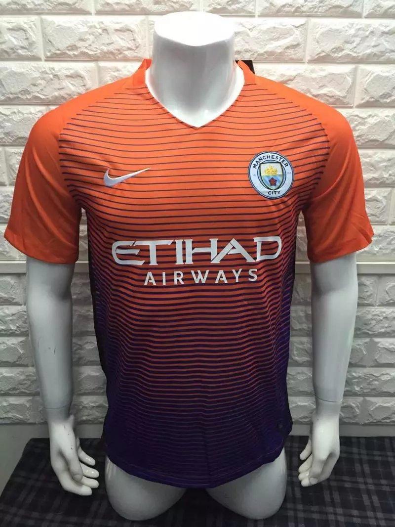 16/17 Man City 3Rd Third Soccer Jersey Shirt Football Sport Tee