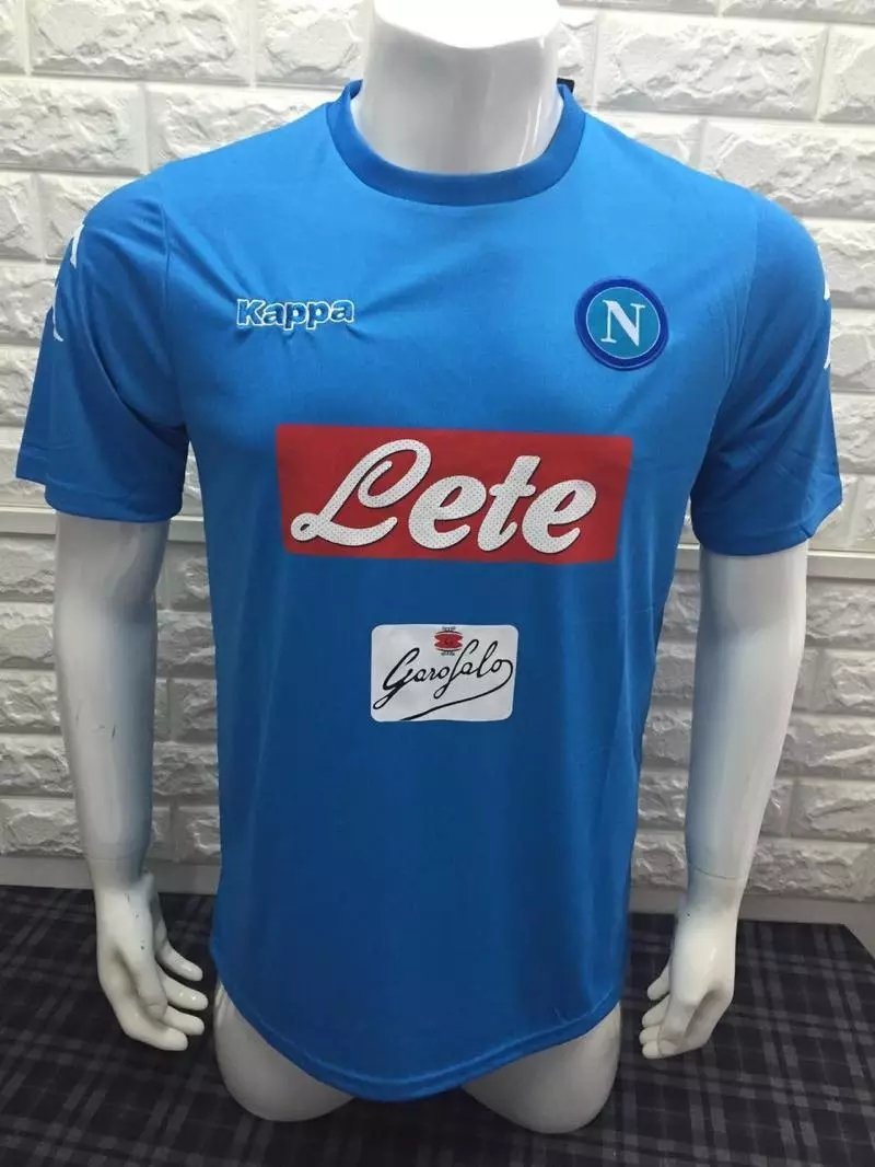 16/17 Napoli Home Soccer Jersey Shirt Football Sport Tee
