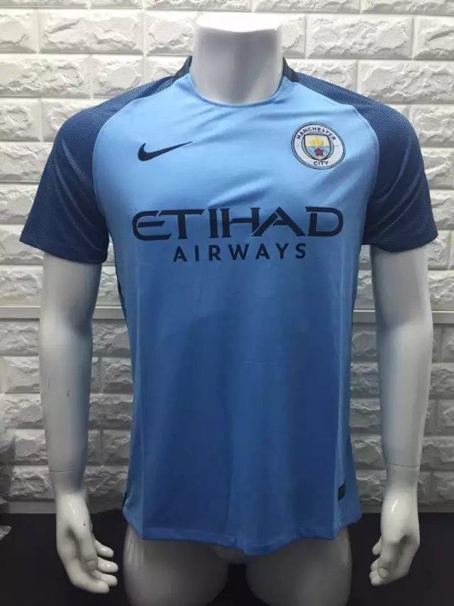 16/17 Man City Home Soccer Jersey Shirt Football Sport Tee