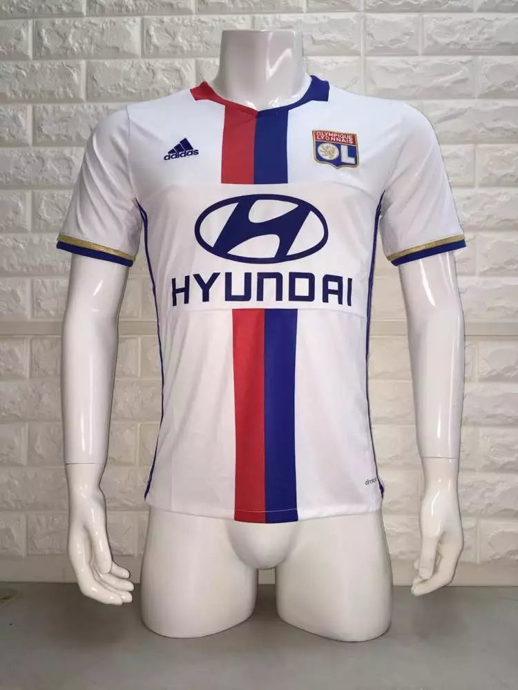 16/17 Lyon Home Soccer Jersey Shirt Football Sport Tee