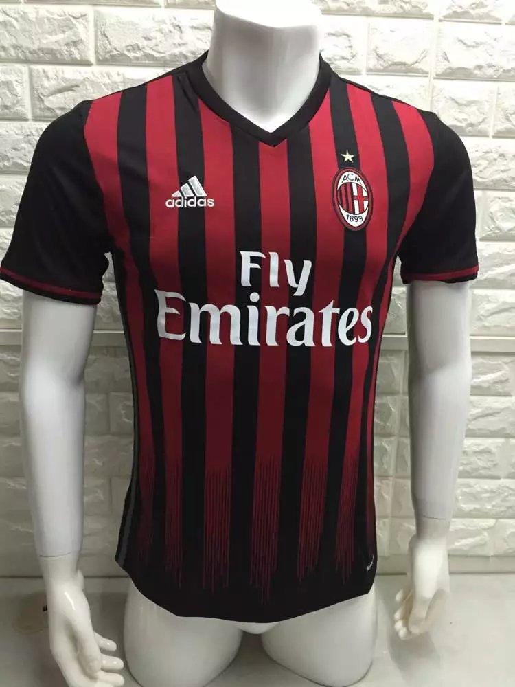 16/17 AC Home Soccer Jersey & Football Sport Shirt & Men's Jerseys