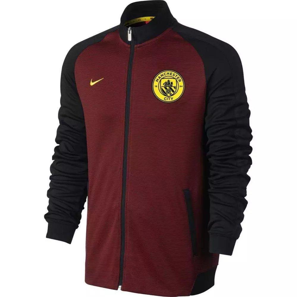 Training Jacket 16/17 Man City Soccer Football Coat & Long Sleeve