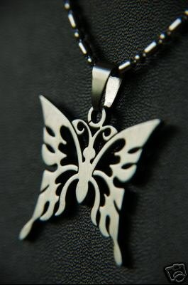 Stainless Steel Butterfly Necklace *UNISEX*