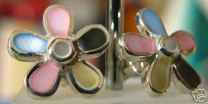925 Silver Flower Stud Earrings