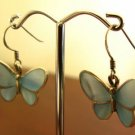 Blue Butterfly Silver Earrings