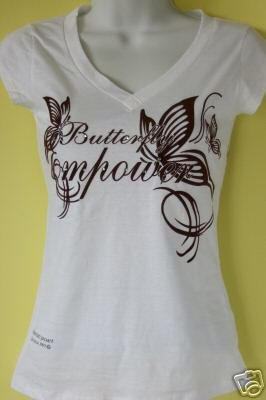"WHITE ""V"" NECK T-SHIRT"