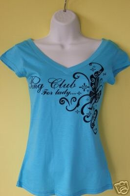 "BLUE ""V"" NECK T-SHIRT"