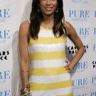 Eva Longoria 8x10 Photo - White & Yellow Stripe Dress #8