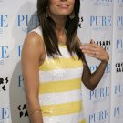 Eva Longoria 8x10 Photo - White & Yellow Stripe Dress #10