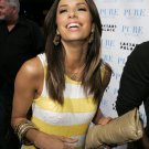 Eva Longoria 8x10 Photo - White & Yellow Stripe Dress #12