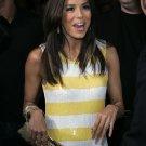 Eva Longoria 8x10 Photo - White & Yellow Stripe Dress #13
