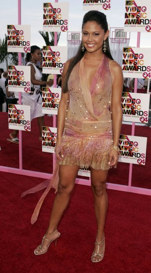 Vanessa Minnillo 8x10 Photo - MTV VMA '04 C-THRU ~MUST HAVE~ TOP SLIP Candid! #39