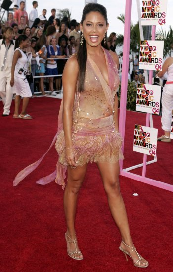 Vanessa Minnillo 8x10 Photo - MTV VMA '04 C-THRU ~MUST HAVE~ TOP SLIP Candid! #41