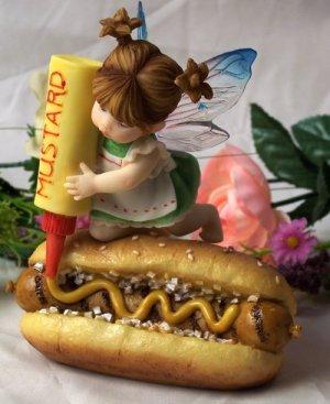 """My Little Kitchen Fairies """"Mustard On Bratwurst Fairy"""""""