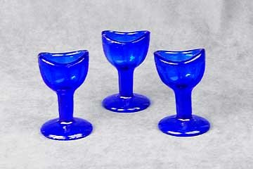 Set of 3 Cobalt Blue Eye Cups