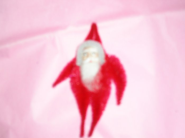 Chenille Santa RED 3.75 inches cotton beard