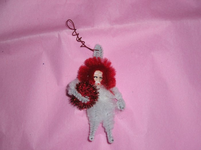 Chenille Santa White  2.75 inches cotton beard