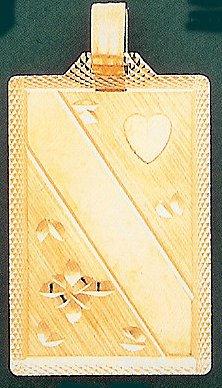 14 K Gold Engravable Diamond Cut plate - Text