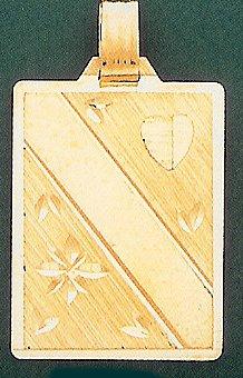 14 K Gold Diamond Cut engravable slate - Text