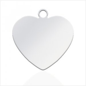 Small Heart Pendant - Great for Picture or Text