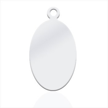 Great oval Silver plated Nickel - Great for pictures