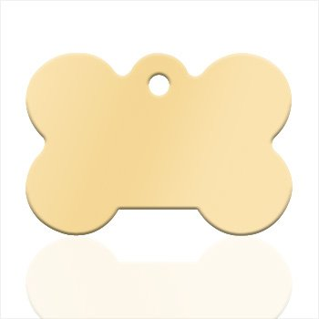 Small dog bone Gold plated pendant - Text