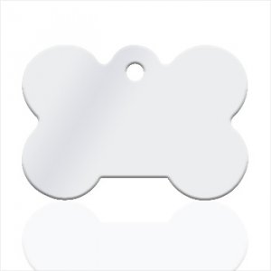 Small dog bone Silver plated Pendant - Text