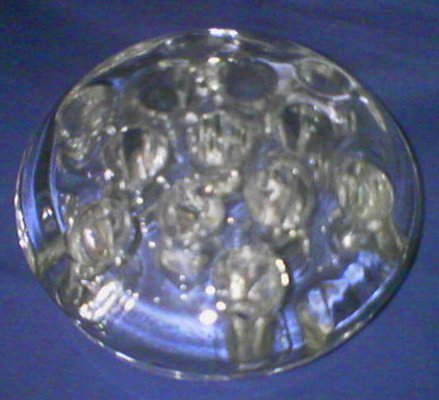 Vintage Clear Glass Pen Holder / Paper Weight
