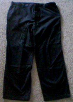 MENS 44 x 30 COVINGTON Cotton Dress Pants - BLACK