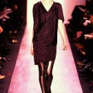 BCBG MAXAZRIA RUNWAY FALL 2009 LIMITED EDITION COWL NECK JERSEY DRAPED DRESS