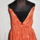 FENDI TERRACOTA TANGERINE BLACK SILK SUMMER SLEEVELESS TIE  HALTER TOP BLOUSE 40