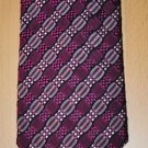 ETRO TIE STYLISH SILK COTTON DARK PINK DRESS NECK TIE MADE IN ITALY
