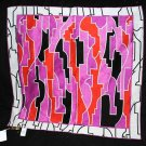 EMILIO PUCCI FIRENZE COTTON SILK NECK MULTI COLOR GEOMETRIC SCARF TIE BANDANA
