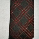 NEW SALVATORE FERRAGAMO CHECK PLAID GEOMETRIC BROWN DRESS NECK TIE