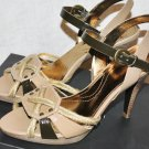 TAHARI STEPHI PATENT LEATHER ROPE PLATFORM SANDALS HEELS SHOES PUMPS 38.5 8.5
