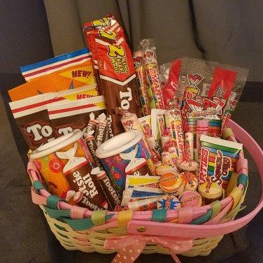 Tootsie Rolls & Smarties Candy Gift Basket