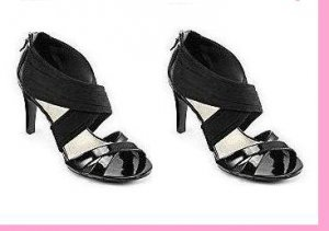 "STUDIO PAOLO® ""AMOR"" BLACK SANDALS. SZ 11 (MSRP $75.00)."