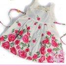 NEW CUTE Rose FLOWER GIRL's  PRINCESS DRESS SZ 5T