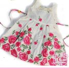 NEW CUTE Rose FLOWER GIRL Light-weight  DRESS SZ 3T