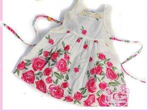 NEW CUTE Rose FLOWER GIRL Light-weight  DRESS SZ 3T